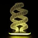 چراغ خواب سه بعدی طرح لامپ کم مصرف کد CHKH-007