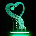 چراغ خواب سه بعدی طرح گل کد chkh-011