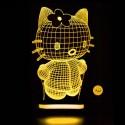 چراغ خواب سه بعدی طرح کیتی کد chkh-009