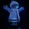 چراغ خواب سه بعدی طرح آدم برفی کد CHKH-020
