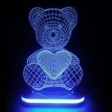 چراغ خواب سه بعدی طرح خرسی کد CHKH-027