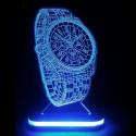 چراغ خواب سه بعدی طرح ساعت مچی کد CHKH-030