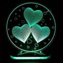 چراغ خواب سه بعدی طرح سه قلب کدCHKH-031