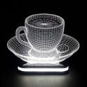 چراغ خواب سه بعدی طرح فنجان کد CHKH-034