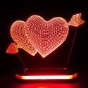 چراغ خواب سه بعدی طرح قلب کد CHKH-035