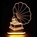 چراغ خواب سه بعدی طرح گرامافون کدCHKH-037