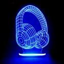 چراغ خواب سه بعدی طرح هدفون کدCHKH-045