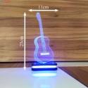 چراغ خواب سه بعدی طرح گیتار کد chkh-008